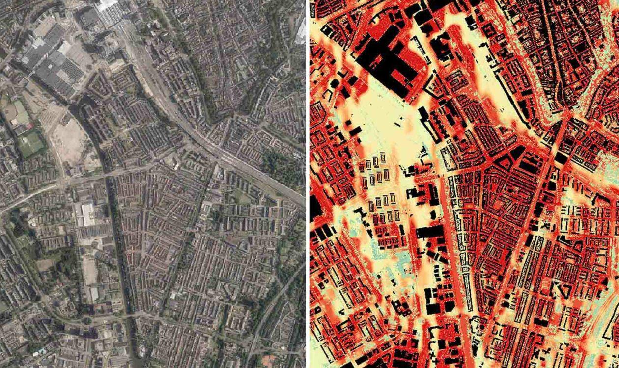 Heatmap van een stad
