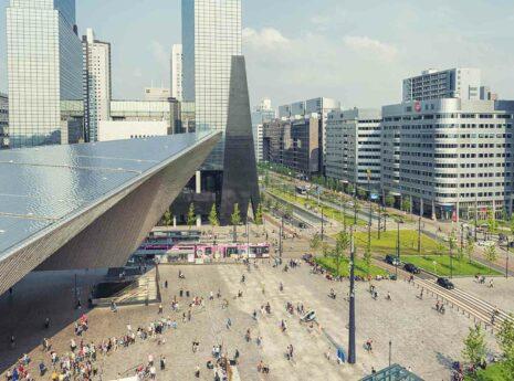 Header Den Haag Centraal van bovenaf