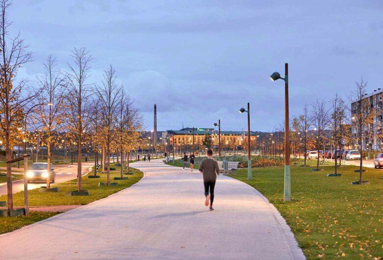 Hardloper in park De Groene Loper Maastricht