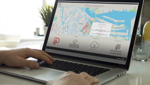 Laptop met software van Staat van je straat erop