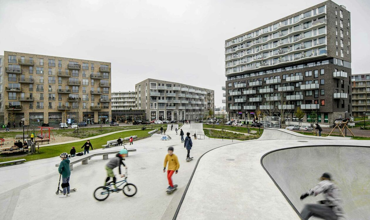Skate park op Zeeburgereiland in Amsterdam