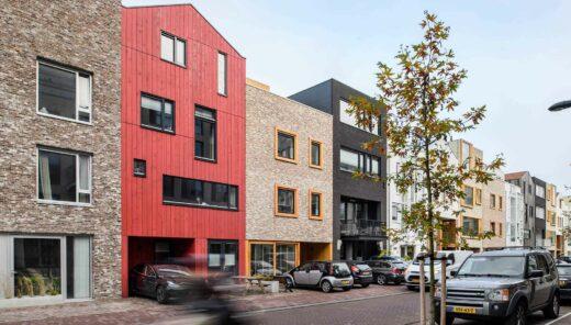 Kleurrijke Nieuwbouwwoningen Zeeburgereiland Amsterdam