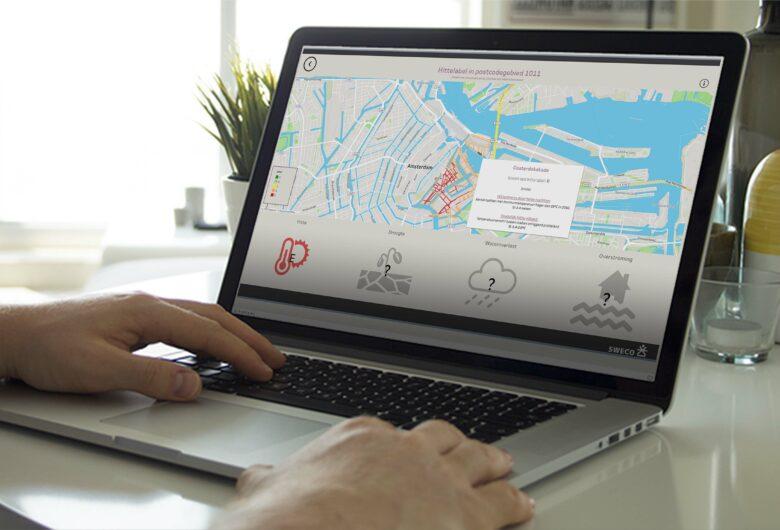 laptop met dashboard staat van je straat