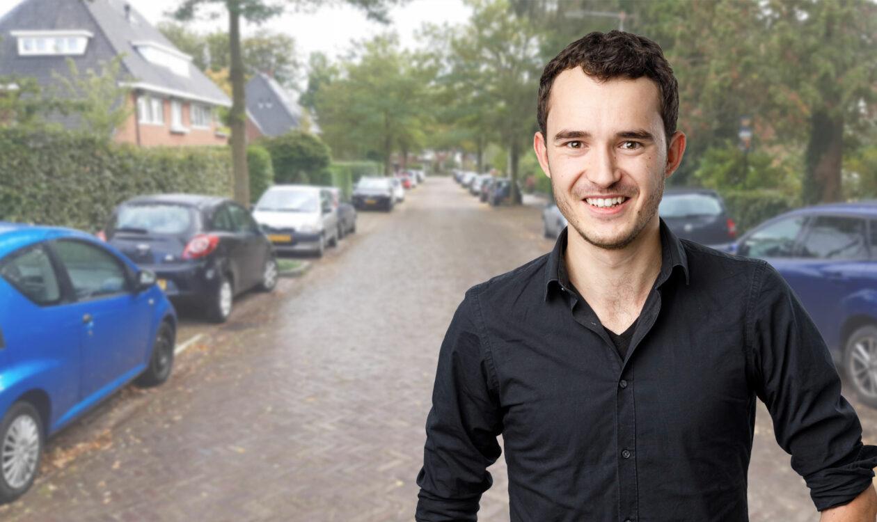 Portret Tim Reuvekamp voor EcoPark slimme parkeerplaatsen