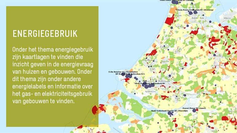 Kaart met informatie over energiegebruik