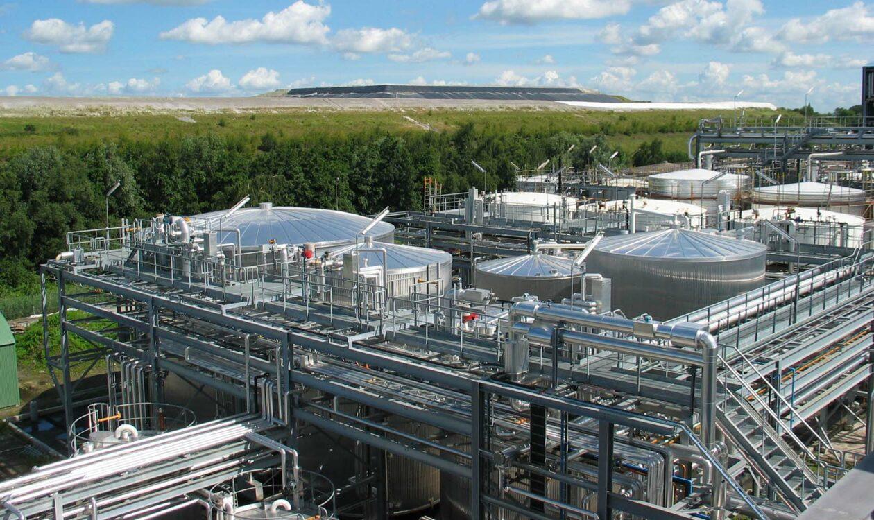 Industrieel gebouw voor verduurzamen van energie en energietransitie