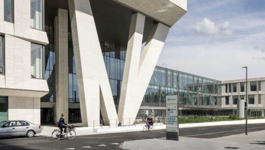 Opvallende architectuur bij constructie van ziekenhuis