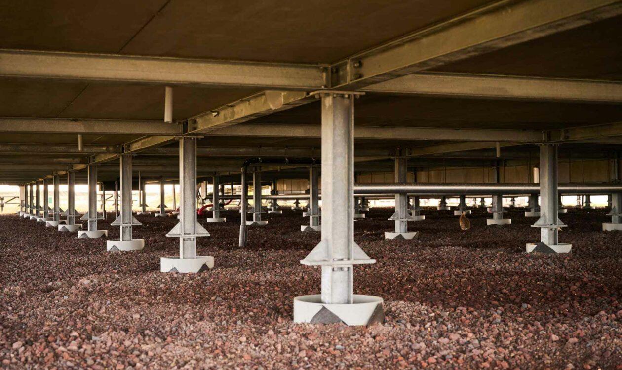 Contructie Energiekenniscentrum Leeuwarden op voormalige afvalberg