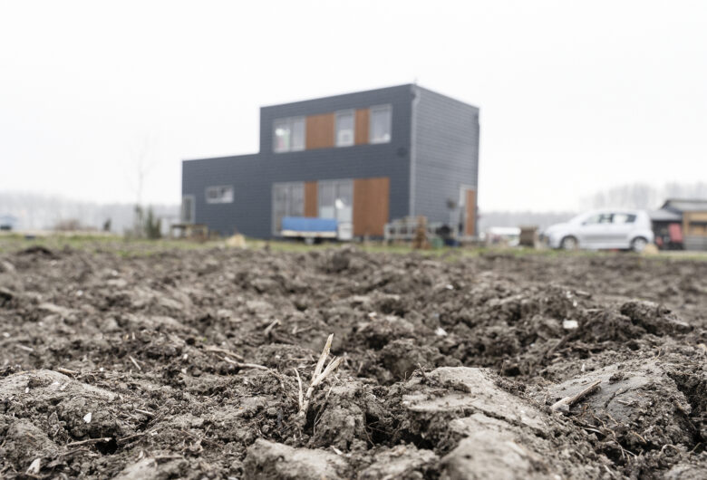 nieuwbouwwoning in Oosterwold op braak liggend terrein