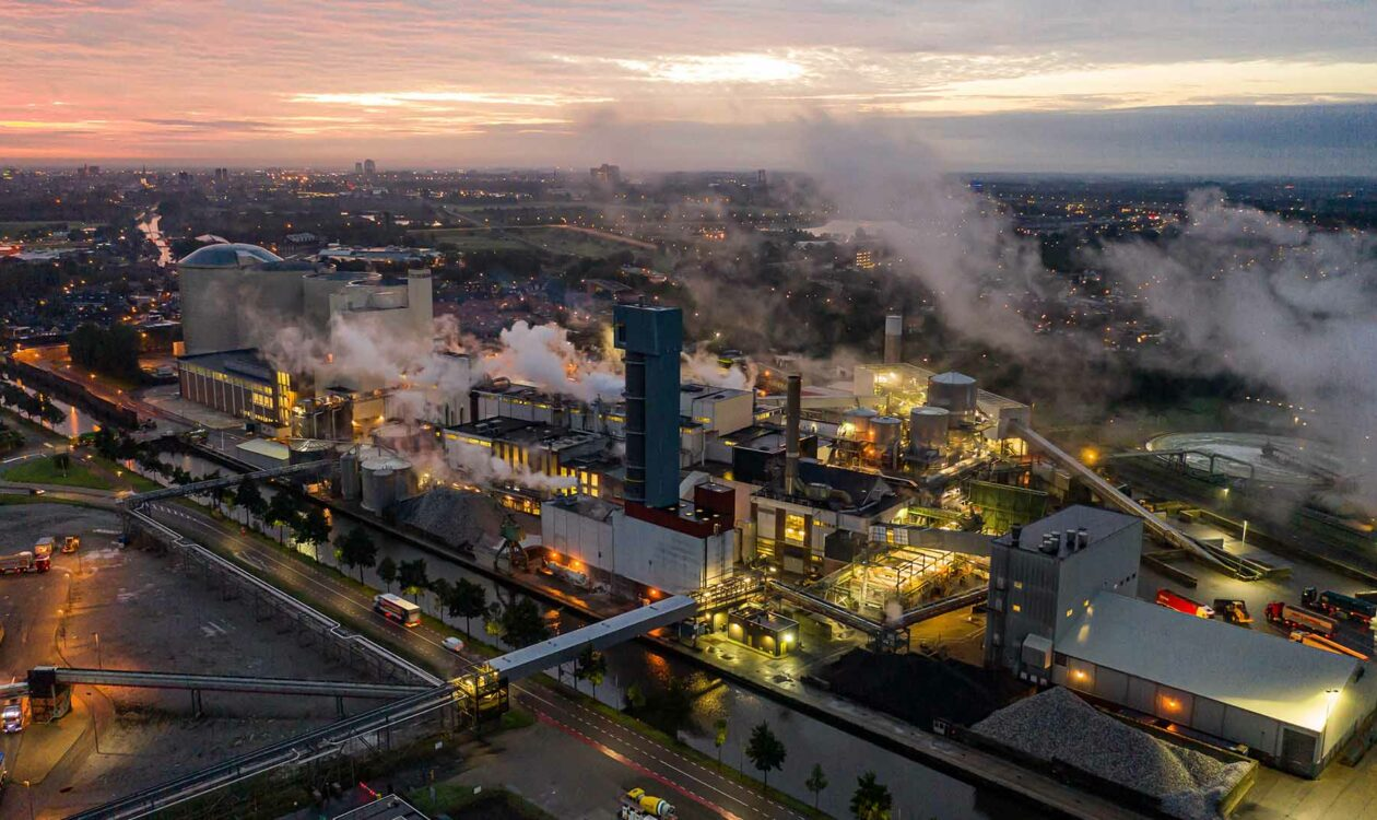 Luchtfoto Suiker Unie Groningen