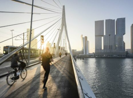 Zonsopkomst Erasmusbrug Rotterdam